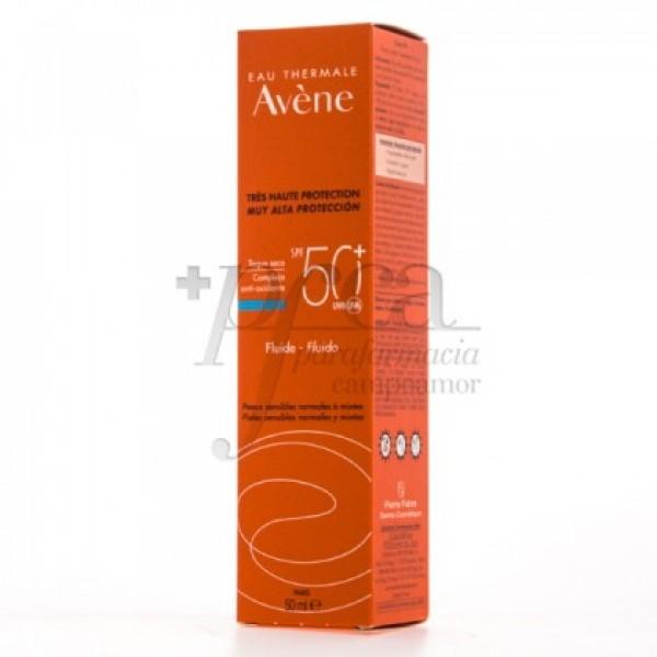 AVENE FLUIDO SPF50 TOQUE SECO P/MIXTA 50ML