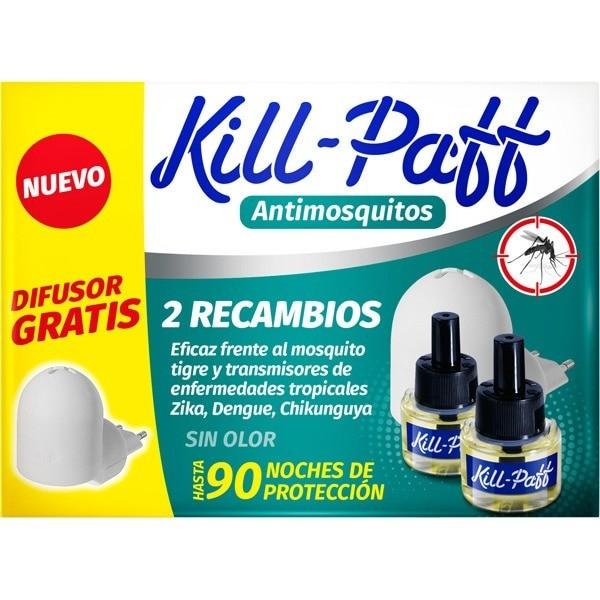 Kill-paff antimosquitos 1 difusores + 2 recambios