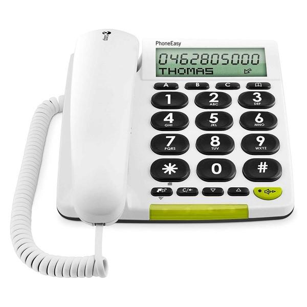 Doro phone easy 312cs blanco teléfono fijo con cable pantalla altavoz manos libres