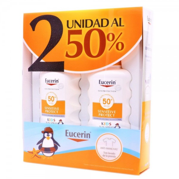 EUCERIN KIDS SPRAY SOLAR SPF50 2X 200ML PROMO