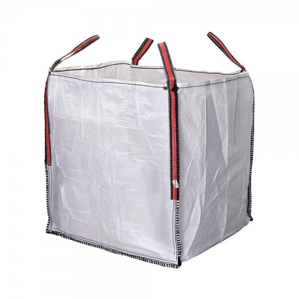 Big bag escombros 90x90x90cm blanco aguanta hasta 1000kg
