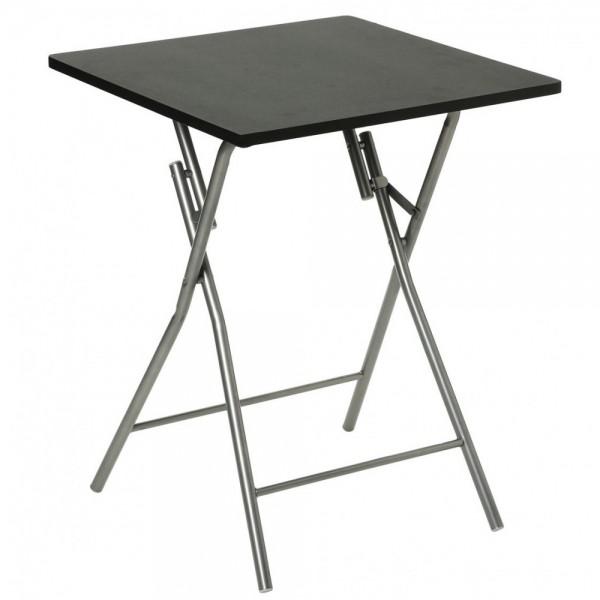 Mesa plegable negra 60x60x75cm